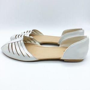Torrid White Flats Size 12